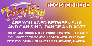Book now for this year's panto: Aladdin!