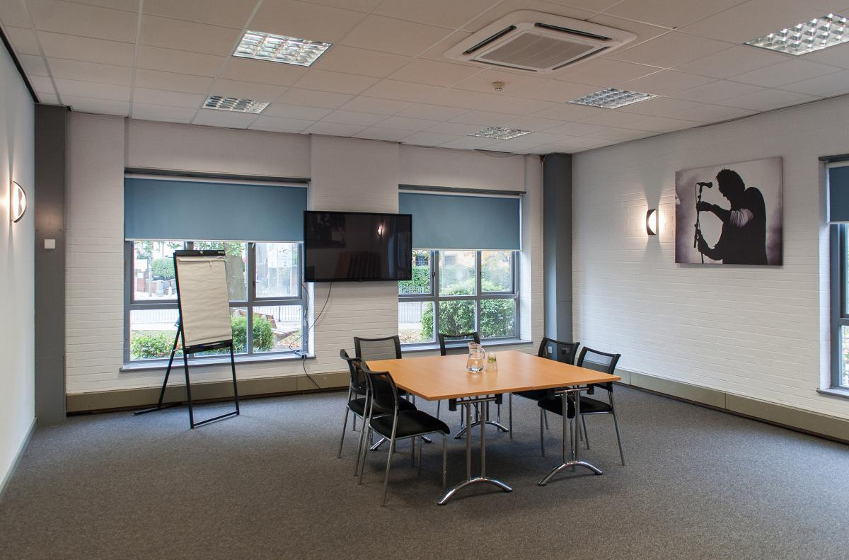 Conference Room set up boardroom style