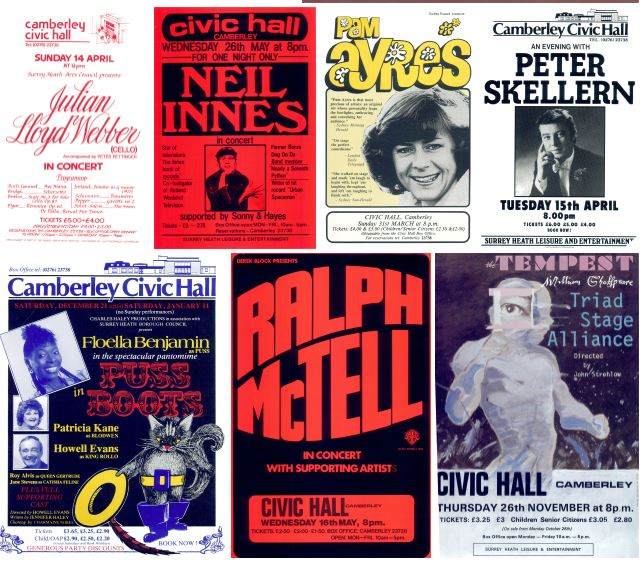 Camberley Theatre posters