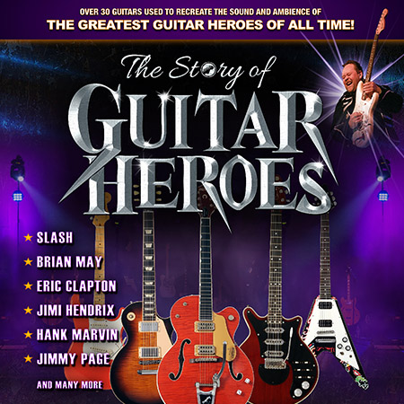 The Story of Guitar Heroes performing at a show