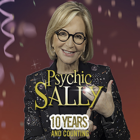 Psychic Sally performing her show, 10 Years and Counting