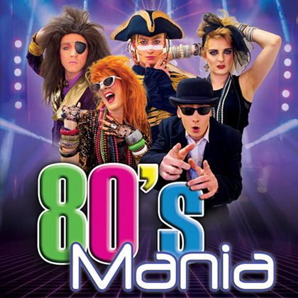 1980's Multi-Tribute Concert Show, 80's Mania performing at Camberley Theatre