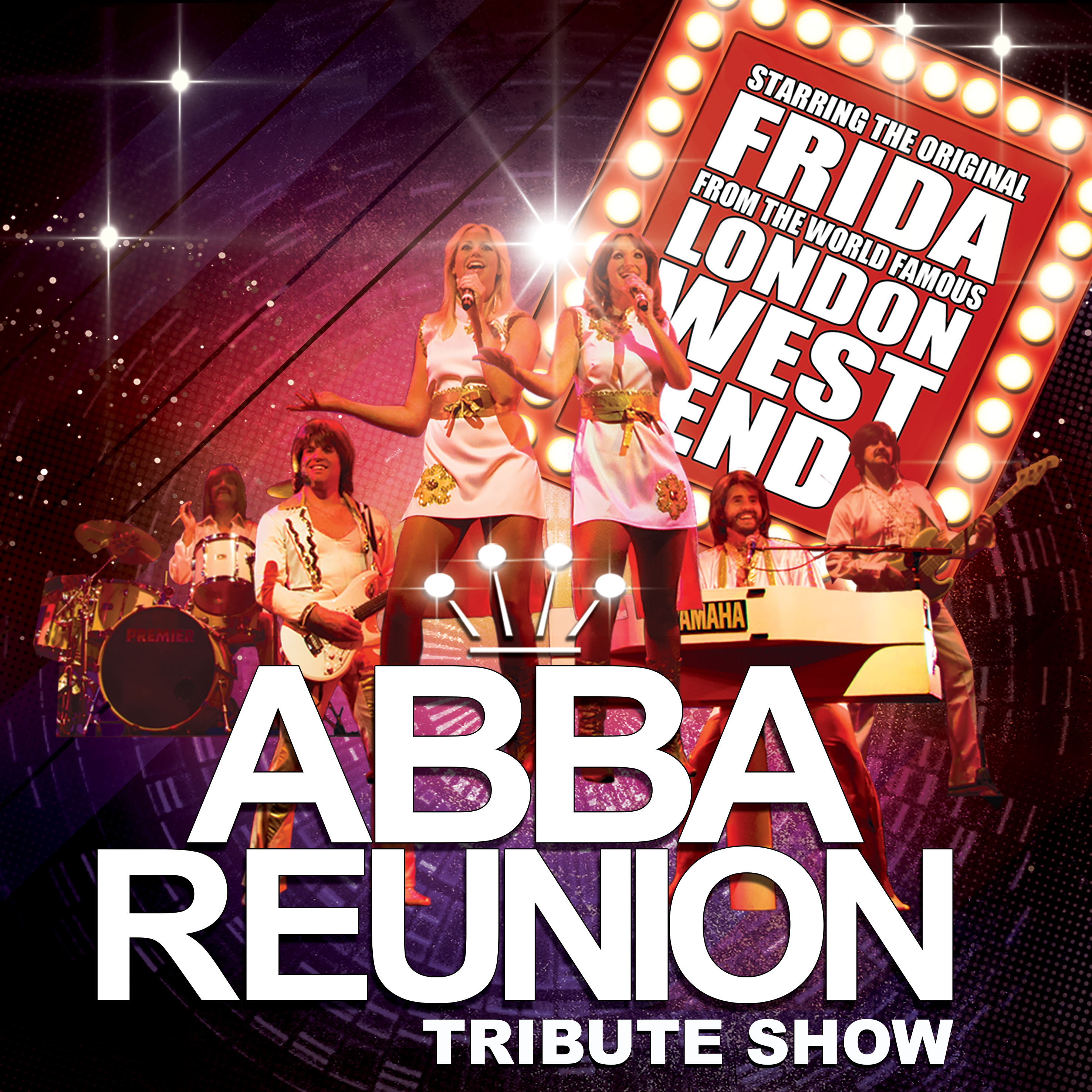 ABBA Reunion the tribute band performing at a show