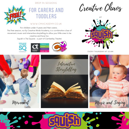 Creative Chaos workshop every Thursday at 10am