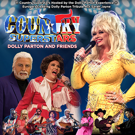 Country Superstars – Dolly and Friends performing at a show hosted by Sarah Jayne
