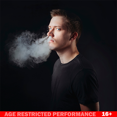 Daniel Sloss event image.  Recommended for ages 16+