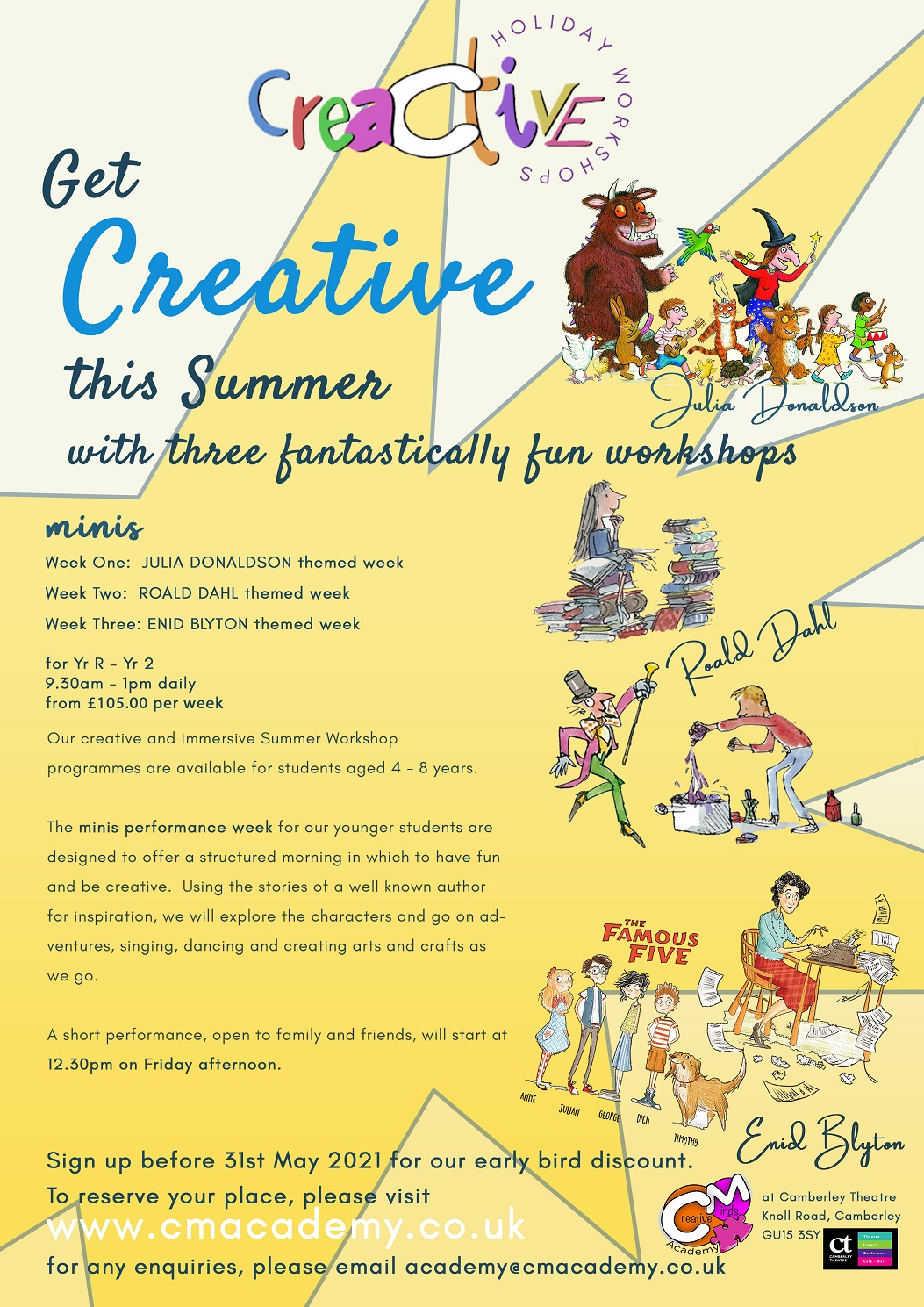 Creative Minds Summer Workshops