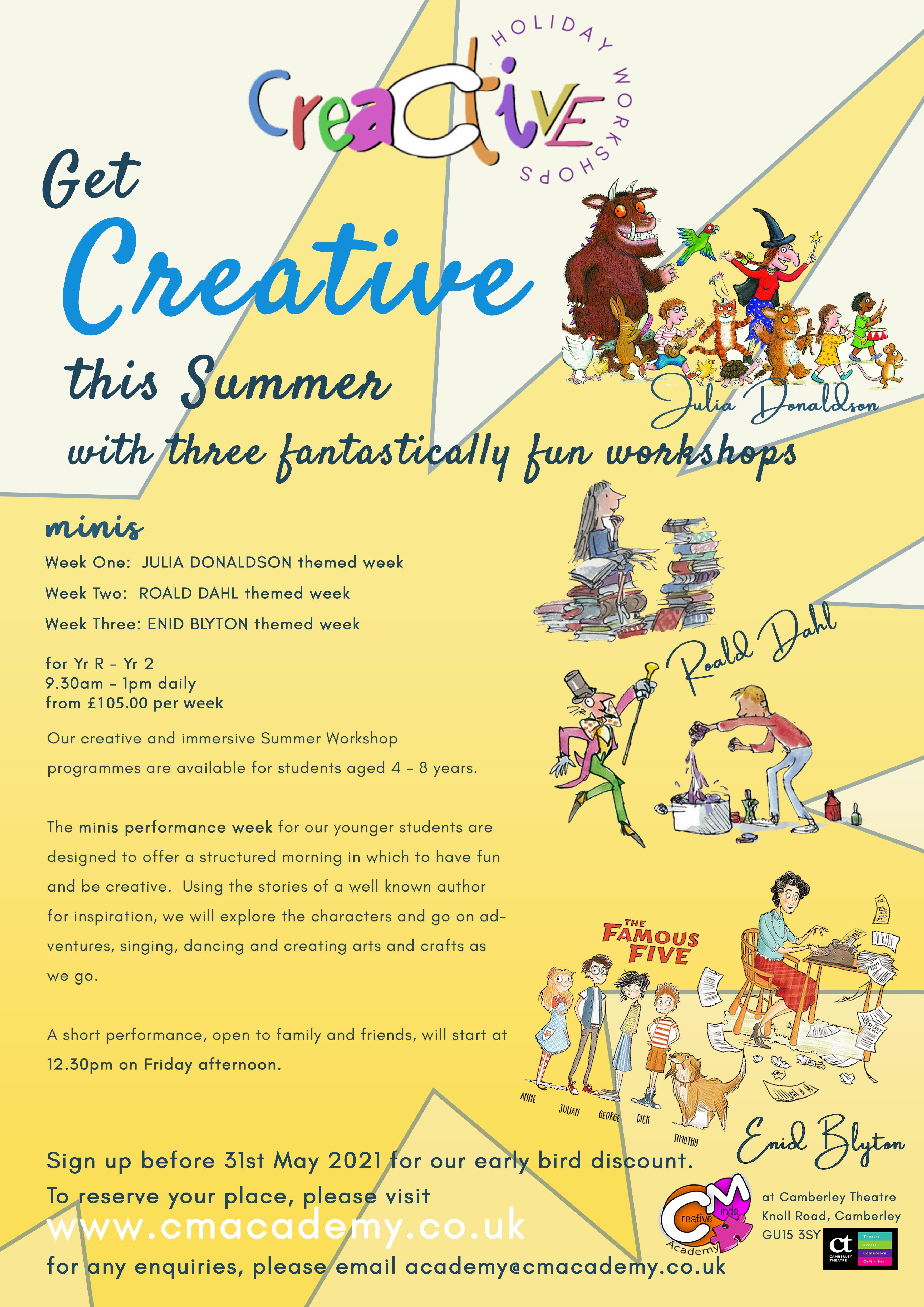 Creative Minds Summer Workshops