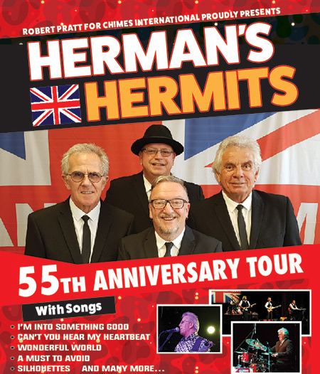 Hermans Hermits performing at a show in their 55th Anniversary Tour