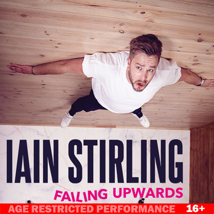 Iain Stirling performing at a show at Camberley Theatre