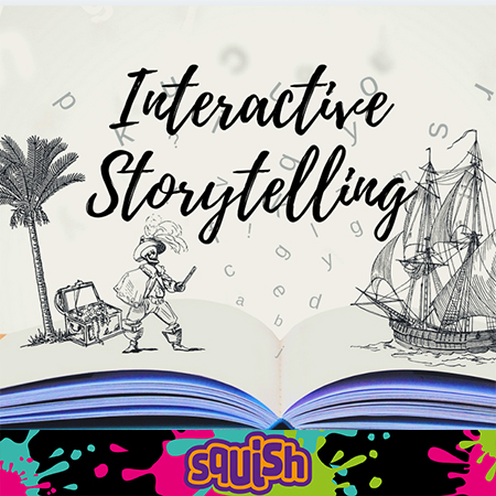 Interactive storytelling logo for creative chaos workshop