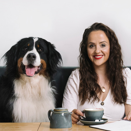 Luisa Omielan and her dog Bernie