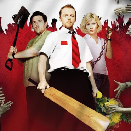 Nick Frost, Simon Pegg and Kate Ashfield in Shaun of the Dead