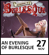Booking link for An Evening of Burlesque on 27th November 2021