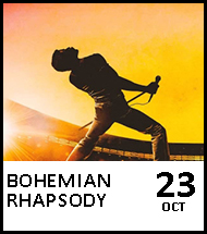 Booking link for Bohemian Rhapsody on 23 October 2020