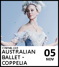 Booking link for Australian Ballet - Coppelia on 5 November 2020