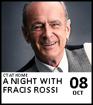 Booking link for CT at Home: A night with Francis Rossi on 8th October