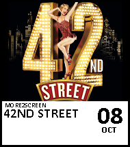 Booking link for 42nd Street on 8 October 2020