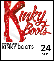 Booking link for Kinky Boots on 24th September