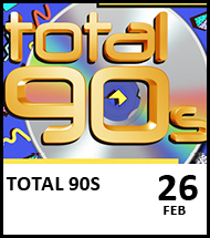 Booking link for Total 90's event on 26 February 2021