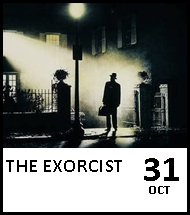Booking link for The Exorcist on 31 October 2020