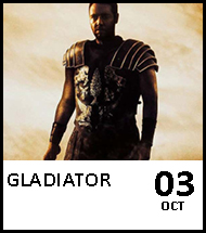 Booking link for Gladiator on 3 October 2020