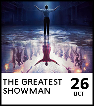 Booking link for The Greatest Showman on 26 October 2020