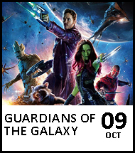 Booking link for Guardians of the Galaxy on 9 October 2020