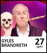 Booking link for Gyles Brandreth on 27 September 2021