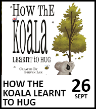 Booking link for How The Koala Learned To Hug on 26th September 2021