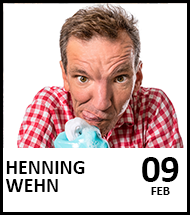 Booking link for Henning Wehn on 9 February 2022
