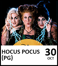 Booking link for Hocus Pocus on 30th October 2021