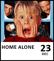 Booking link for Home Alone on 23 December 2020
