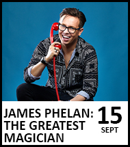 Booking link for James Phelan: The Greatest Magician
