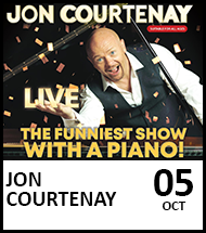 Booking link for Jon Courtenay on 5th October 2021