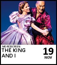Booking link for The King and I on 19 November 2020
