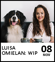 Booking link for Luisa Omielan on 8 November 2020