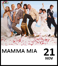 Booking link for Mamma Mia on 21 November 2020