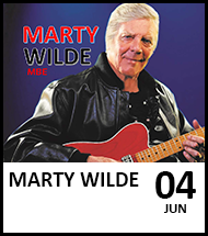 Booking link for Marty Wilde & The Wildcats Running Together Tour on 4th June 2022.
