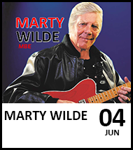 Booking link for Marty Wilde & The Wildcats Running Together Tour on 4th June 2022