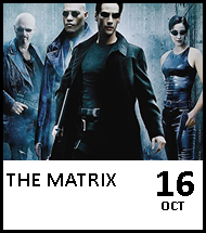 Booking link for The Matrix on 16 October 2020