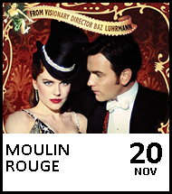 Booking link for Moulin Rouge on 20 November 2020