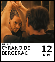 Booking link for NT Live: Cyrano de Bergerac on 12 November 2020