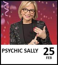 Booking link for Psychic Sally on 25 February 2022