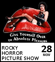 Booking link for The Rocky Horror Picture Show on 28 November 2020