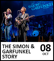 Booking link for The Simon and Garfunkel Story on 8th October 2021