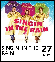 Booking link for Singin' in the Rain on 27 November 2020