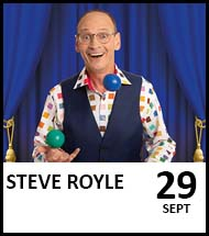 Booking link for The (Steve) Royle Variety Performance 29th September 2021