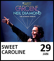 Booking link for Sweet Caroline on 29 January 2022