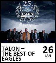 Booking link for Talon – Best of Eagles on 3 November 2021